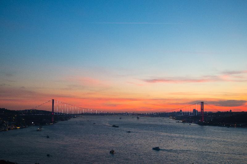Gün batımının İstanbul hali..