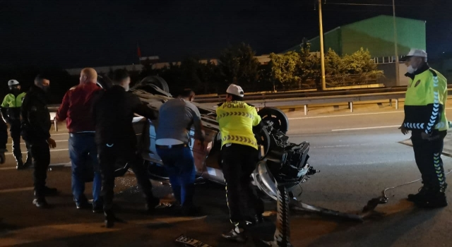 Kocaeli'de otomobille cip çarpıştı: 1 yaralı