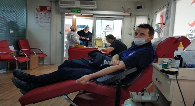 Çiftlikköy Belediyesi'nden kan bağışına destek
