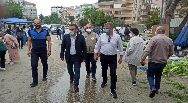 Mudanya Kaymakamı Sözer, pazar yerlerini denetledi
