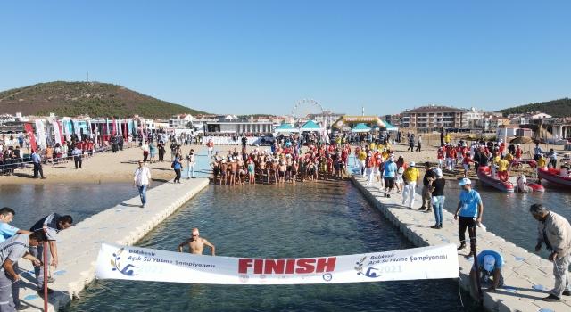 Balıkesir Açık Su Yüzme Şampiyonası, Ayvalık'ta yapıldı