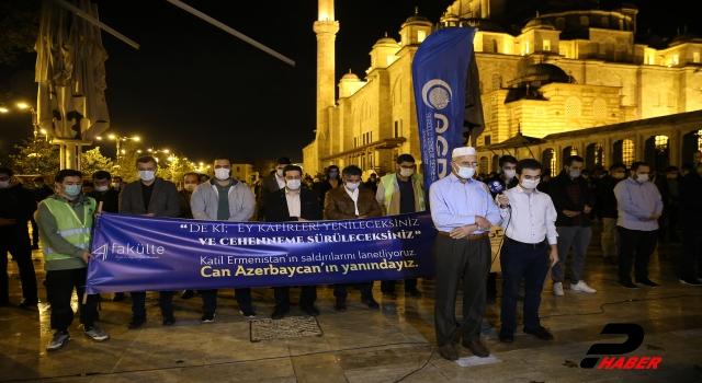 Ermenistan'ın saldırısında Azerbaycan'da ölen siviller için gıyabı cenaze namazı kılındı