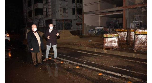 Tekirdağ Büyükşehir Belediye Başkanı Albayrak, yağış sonrası incelemelerde bulundu