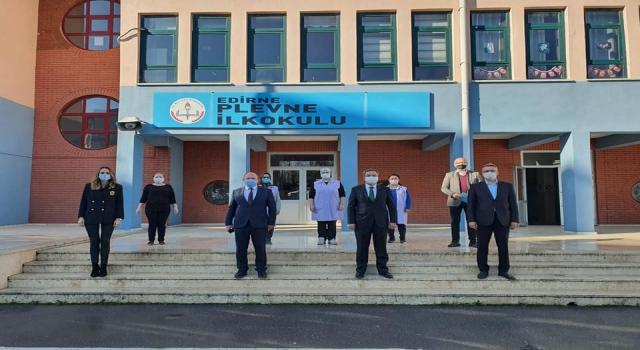Edirne'deki okullarda Kovid19 denetimi