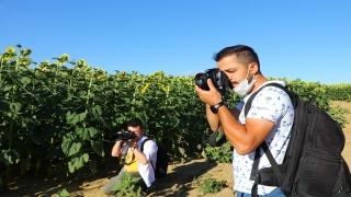 """""""Sarı gelin""""ler fotoğraf tutkunlarını ağırlıyor"""