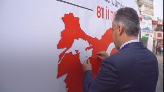 29 Ekim Cumhuriyet Bayramı'nda Türkiye haritası yapbozu ilgi gördü