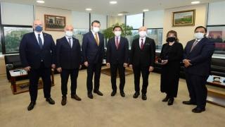 Endonezya'nın Ankara Büyükelçiliği Ticaret Müşaviri Nababan'dan BTSO'ya ziyaret
