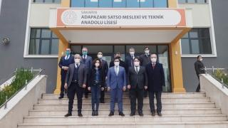MEB Daire Başkanı Akgül, temizlik malzemesi üreten meslek liselerini ve merkezleri ziyaret etti