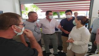 AK Parti Edirne Milletvekili Aksal, Enez'de ziyaretlerde bulundu