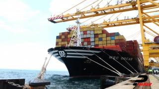 """Dev konteyner gemisi """"MSC Oscar"""" Tekirdağ'a geldi"""