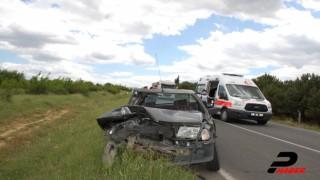 Malkara'da traktörle çarpışan otomobilin sürücüsü yaralandı