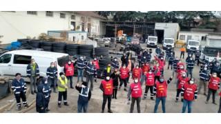 Tekirdağ Büyükşehir Belediyesinde 2 bin 500 çalışan iş bırakma eylemi yaptı
