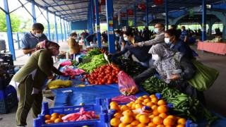 Trakya'da halk pazarlarında tedbirler ekiplerce sürekli denetleniyor