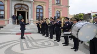 Edirne'de belediye bandosu, emektar üyeleri için konser verdi